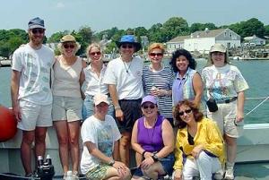 Row 1 (front): Sarah Quan, Vicky Flaherty, Elizabeth D'Abbraccio Row 2 (back): Glen Modica, Debbie O'Hara, Nancy Lee Craven, Howie Chun, Janet Alden, Lee Ann DiSalvia McWeeney, Diane Mayers