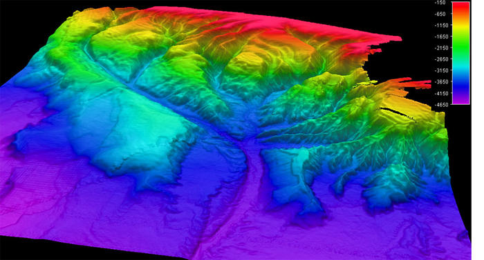 Mapping image of Whittard Canyon.