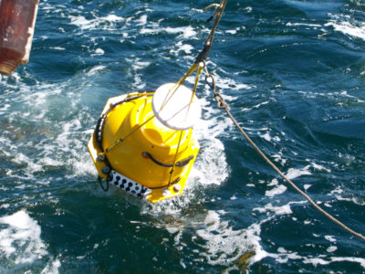 Image of a archival marine acoustic recording unit.